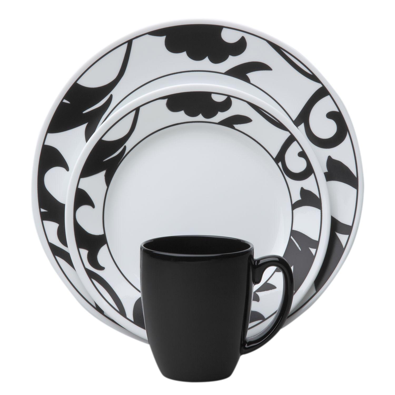 Corelle® Vive™ Noir 16-Pc Dinnerware Set - Shop World Kitchen ...
