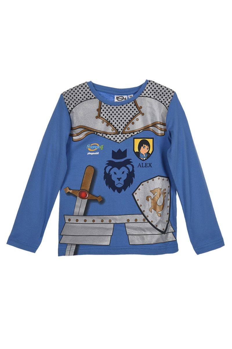 "Kinderzimmer Junge Playmobil T-shirt à Manches Longues ""super 4"" Playmobil 