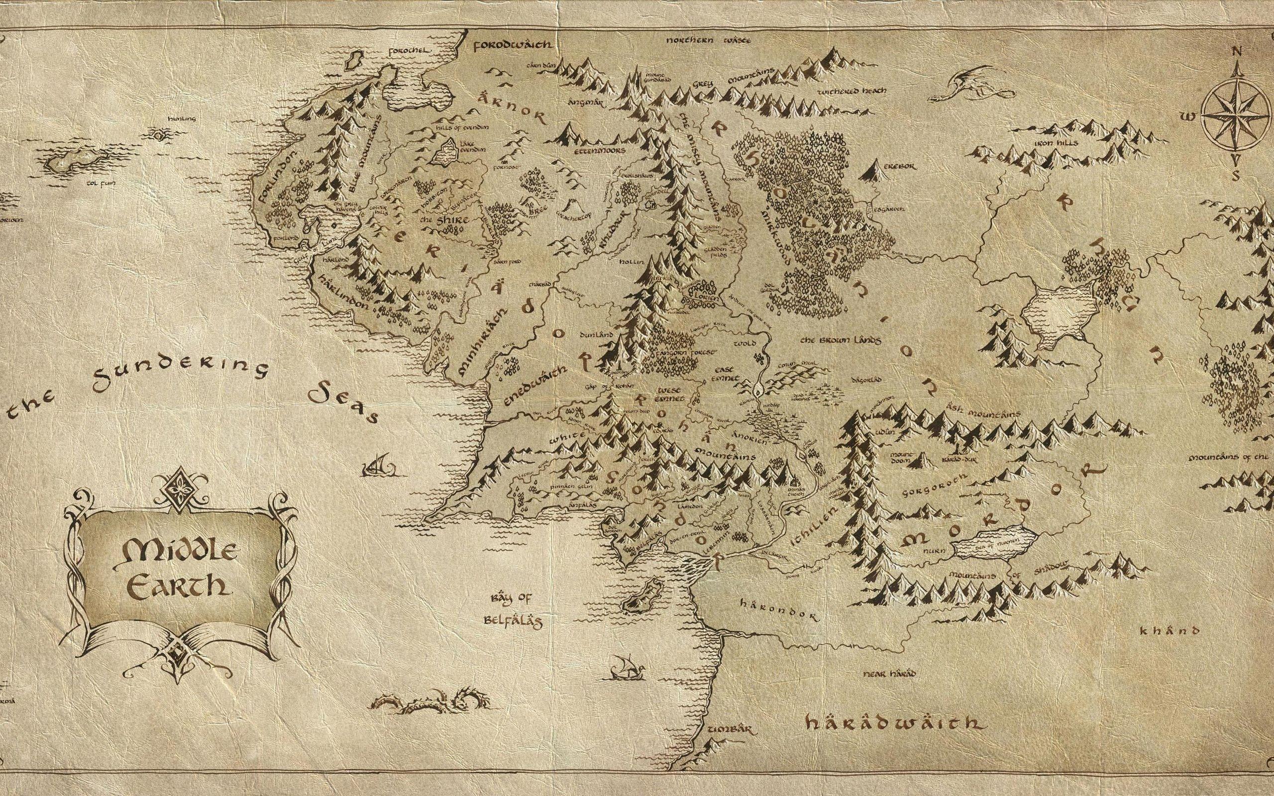 карта средиземья играть