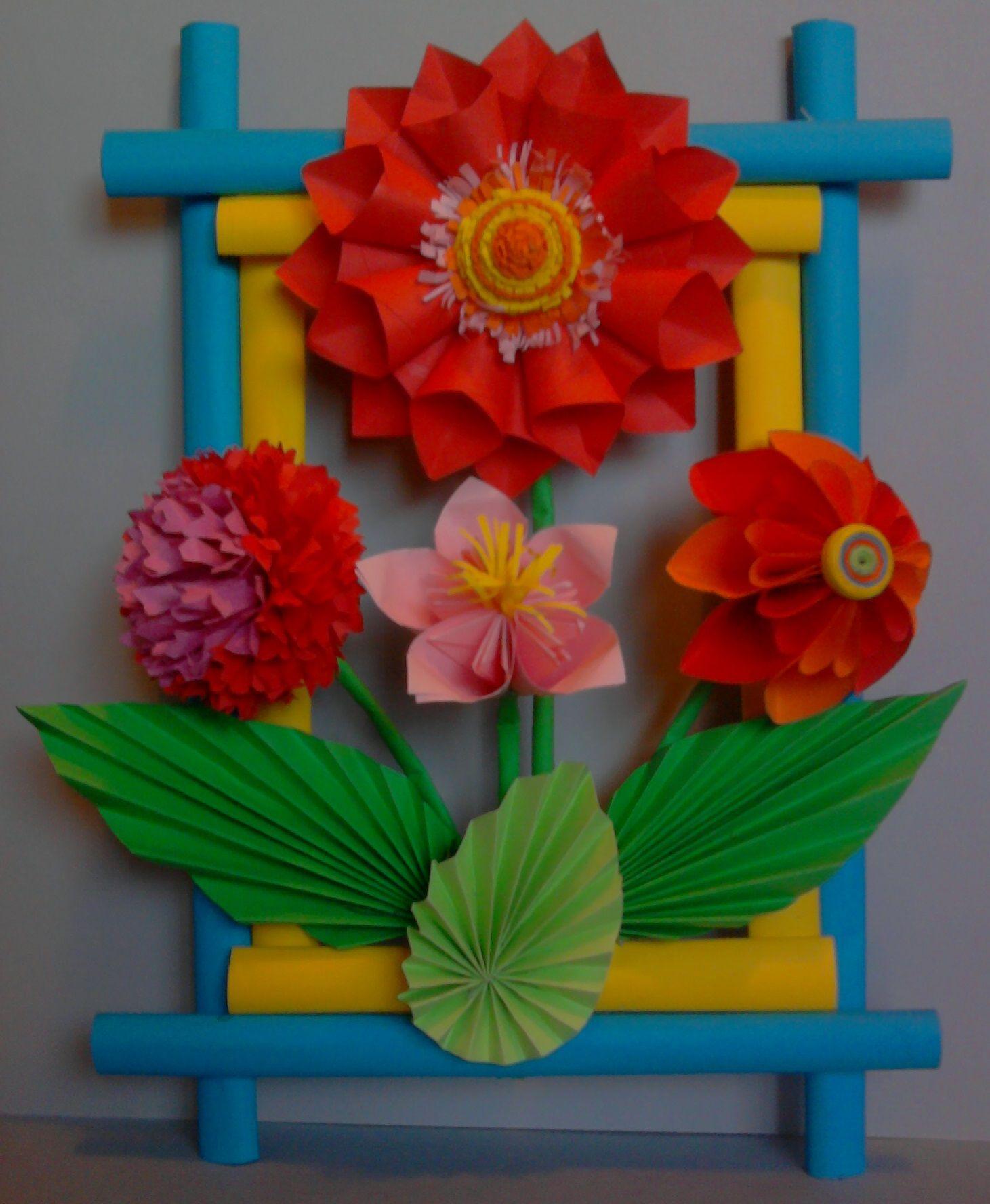 Kwiaty Z Papieru Ikebana Prace Plastyczne Dariusz Zolynski Flowers Paper Paper Flowers Orgiami Kirigami Flower Crafts Paper Art Craft Paper Flowers