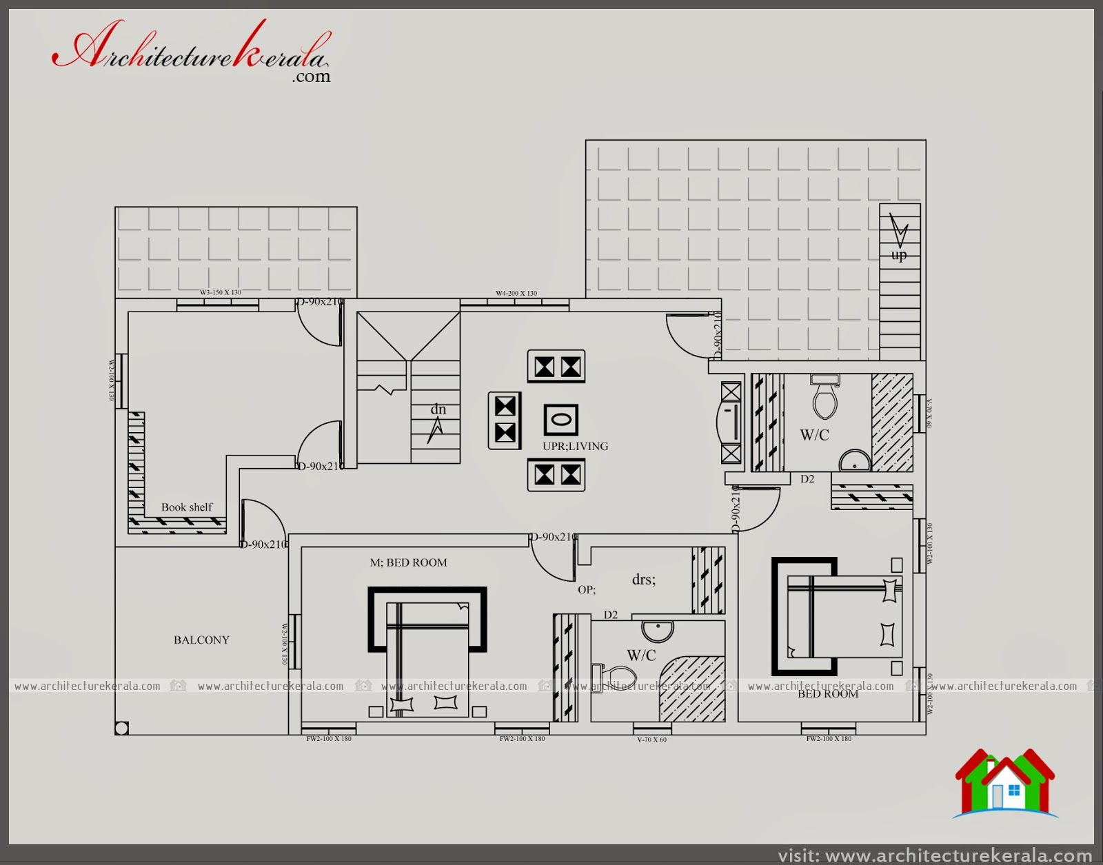 3000 Square Feet House Plan And Elevation Five Bedroom House Plan
