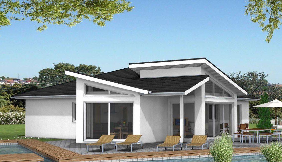 Exklusiver Moderner Fertighaus Bungalow Bayern Preis   Häuser