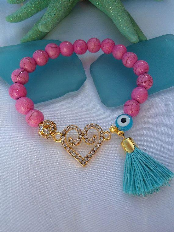 SALE GYPSY HEART Bracelet Valentines Bracelet by Nezihe1 on Etsy, $15.99