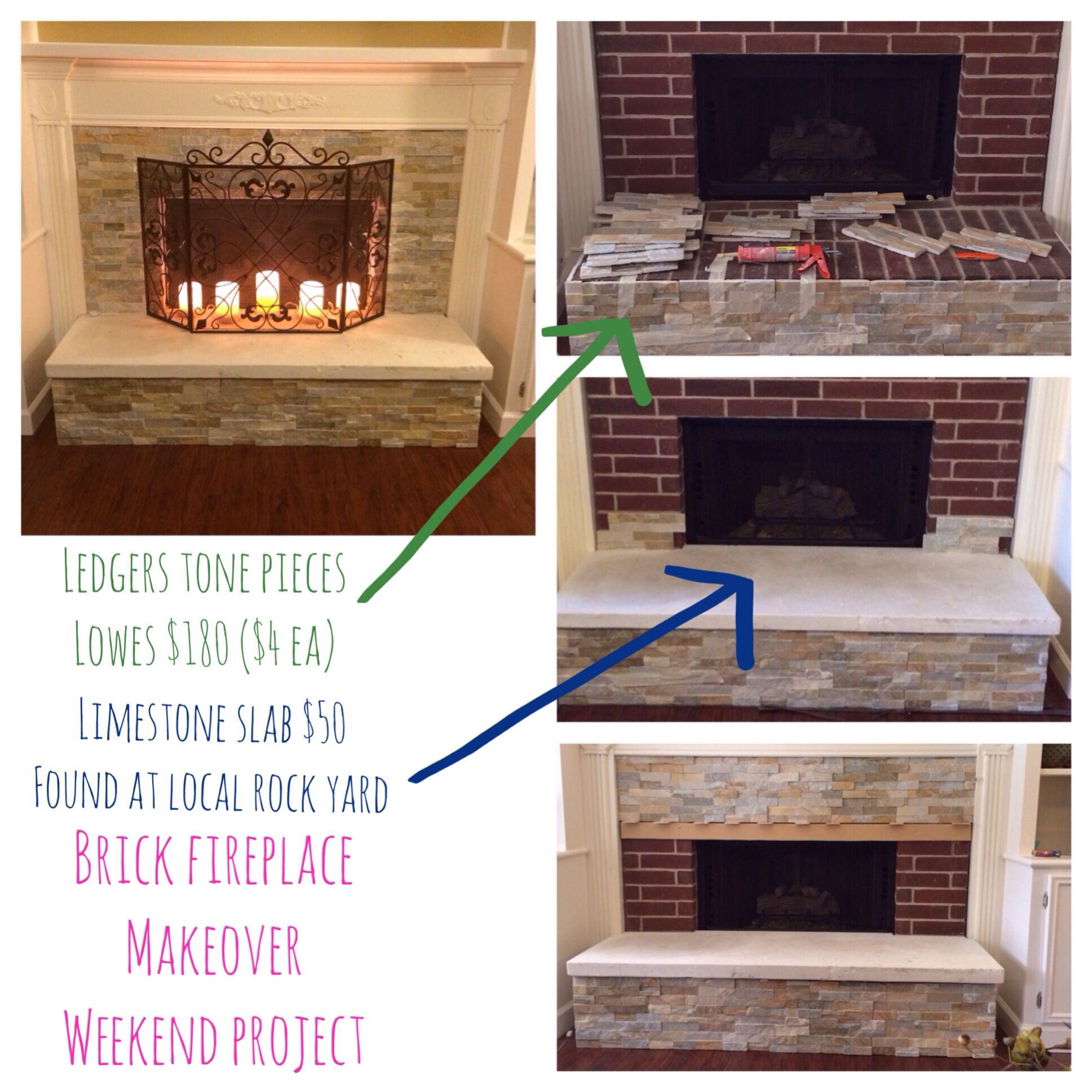 brick fireplace makeover home sweet home pinterest brick