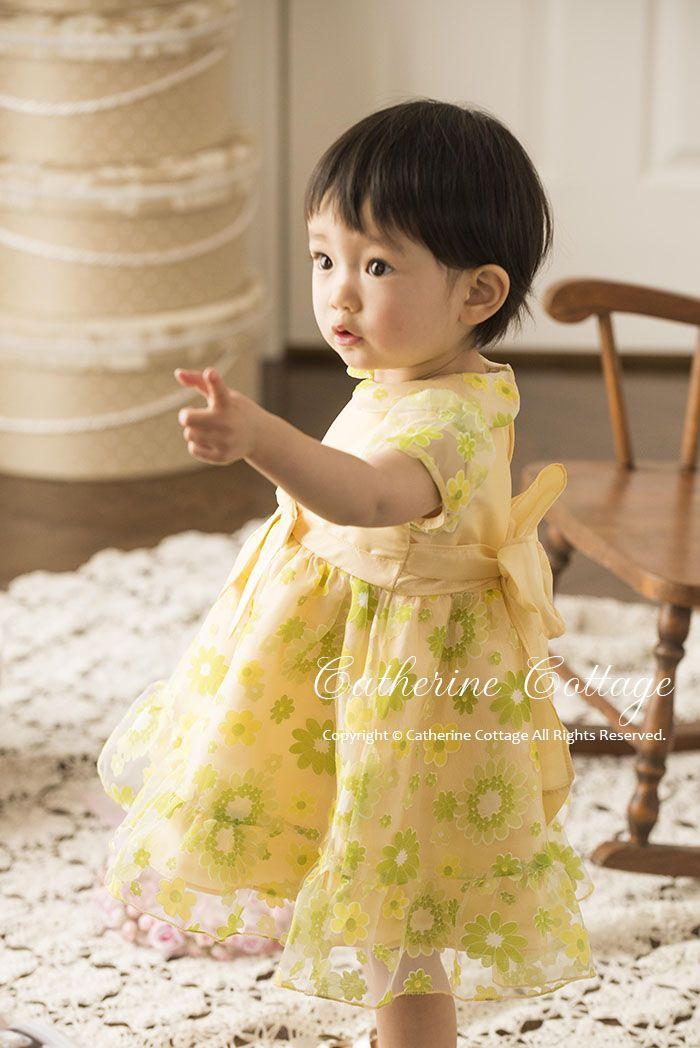 1a4ed9d0e5ebc 商品番号: CC0285 ベビードレス 女の子 ベビープリントオーガンジードレス  ベビー服 ワンピース フォーマル お