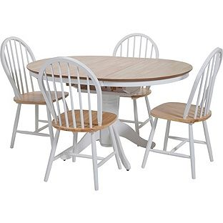 71bb16e7d9 Buy Kentucky Two Tone Extendable Dining Table and 4 Chairs at Argos.co.uk,  visit Argos.co.uk to shop online for Dining sets
