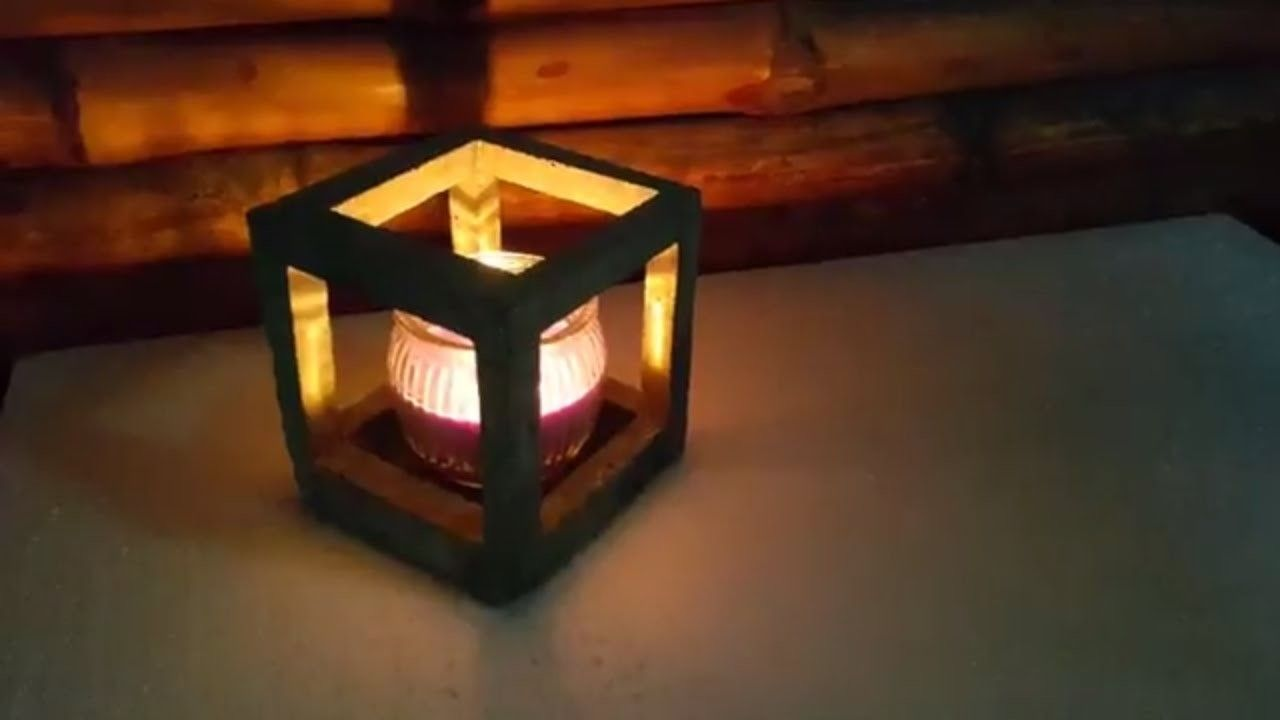 Diy cement craft how to make easy concrete candle holder room