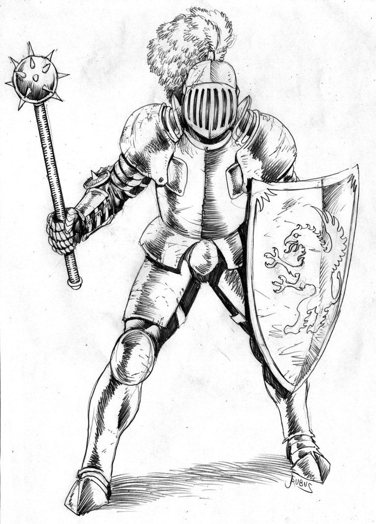 medieval knight drawing - Google Search | Project research | Pinterest