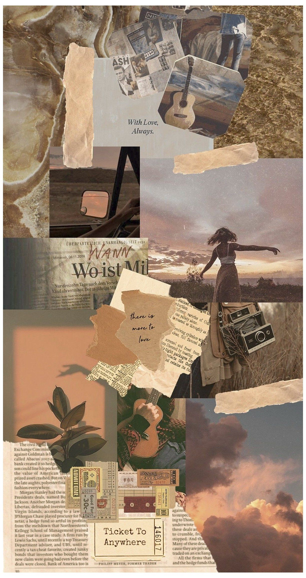 newspaper aesthetic background