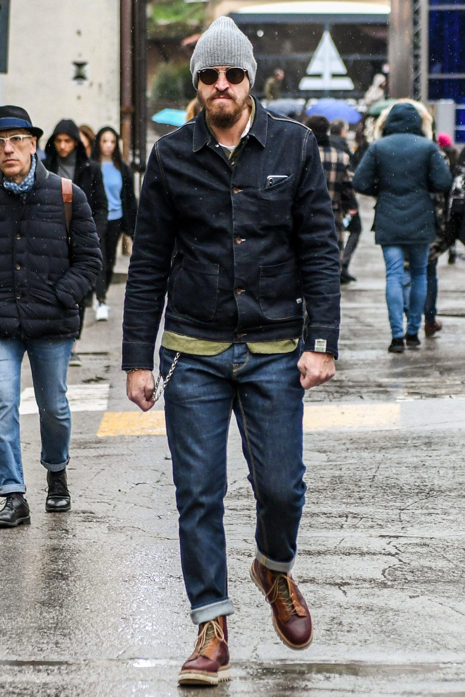 デニムオンデニムにカーキを取り入れてラギッドな春スタイルに ヒップなファッション