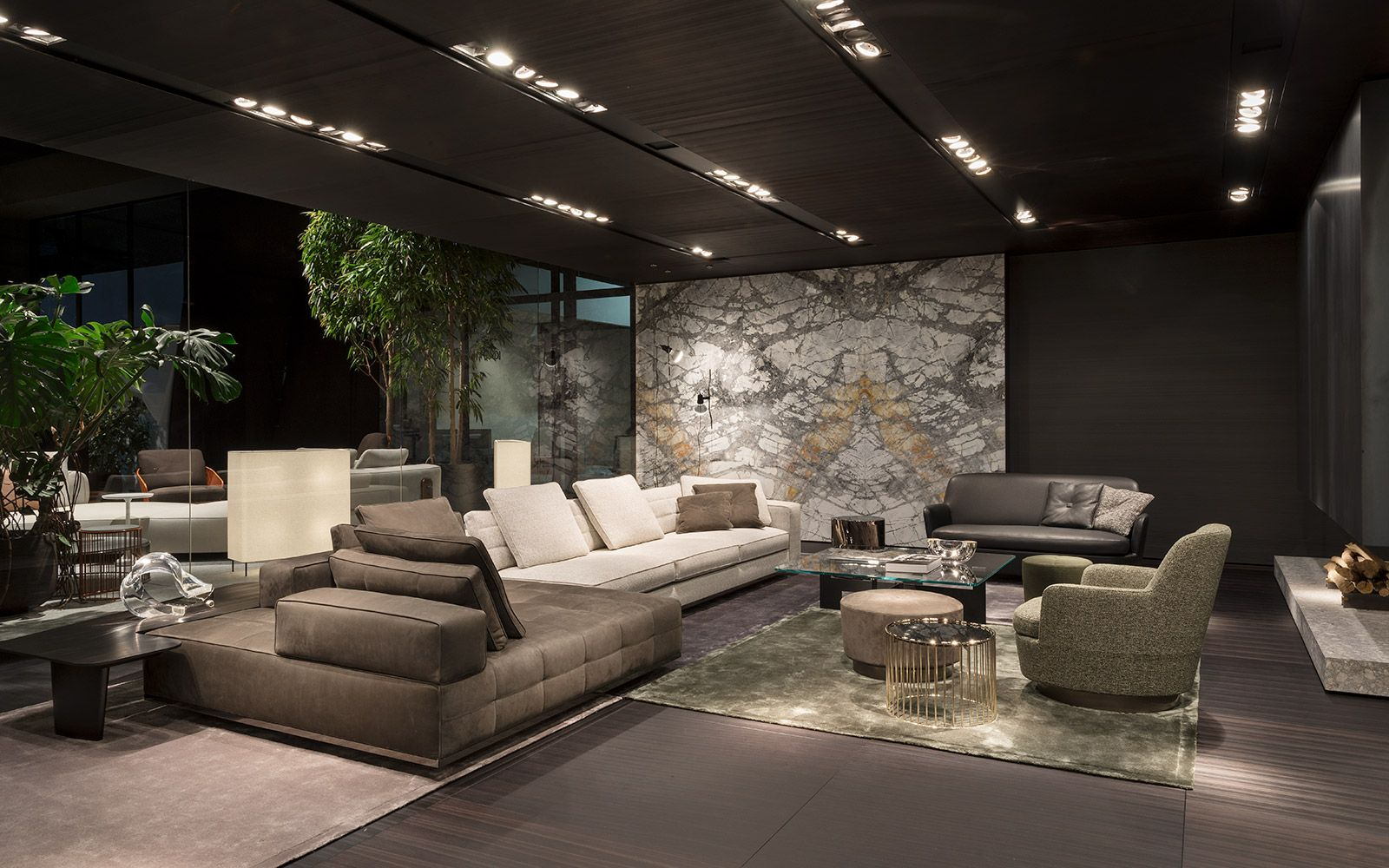 Minotti salone del mobile 2017 md defined concrete for Mobel luxus designer