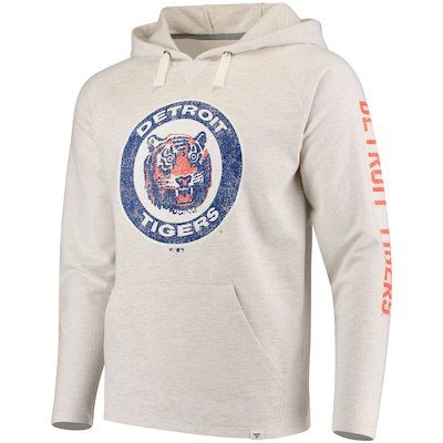 8a2f3cad7 Men s Fanatics Branded Cream Detroit Tigers True Classics French Terry  Pullover Hoodie  50