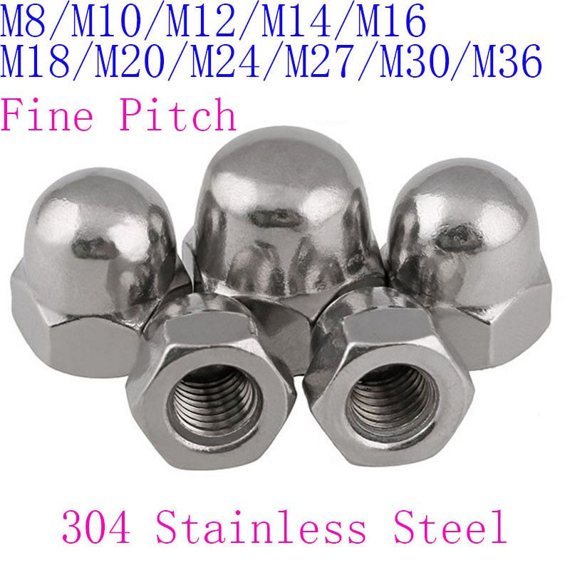 DIN1587 M3 To M10 Stainless Steel Acorn Nut Hex Head Cap Nut Dome Nut Cover Nut