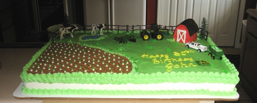 Large Sheet Cake For A Big John Deere Tractor Fan Bc