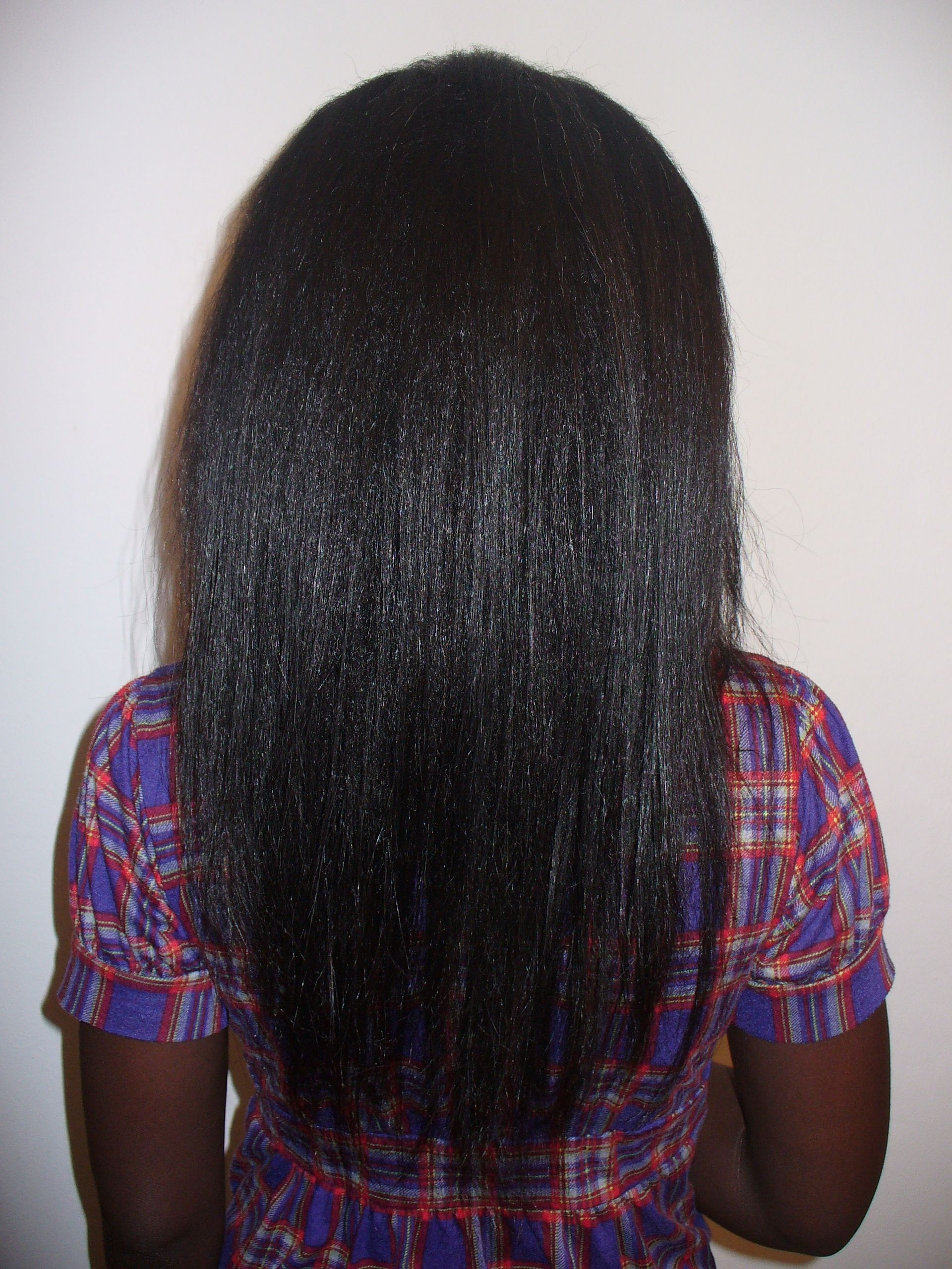 Relaxed Hair Growth | Started at a damaged shoulder length ...