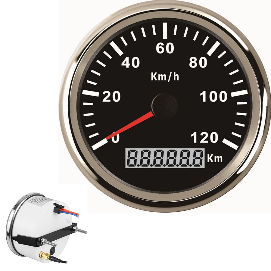 Universal 85mm GPS Digital Speedometer Stainless Waterproof Gauge