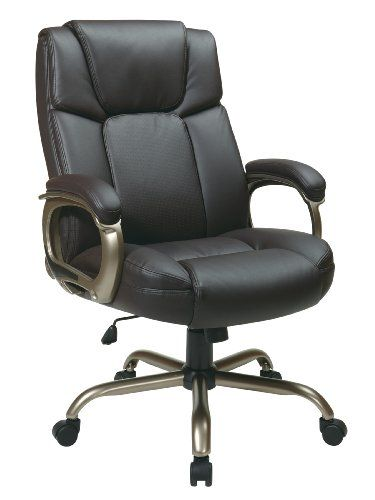 Work Smart Executive Espresso Eco Leather Big Mans Chair With