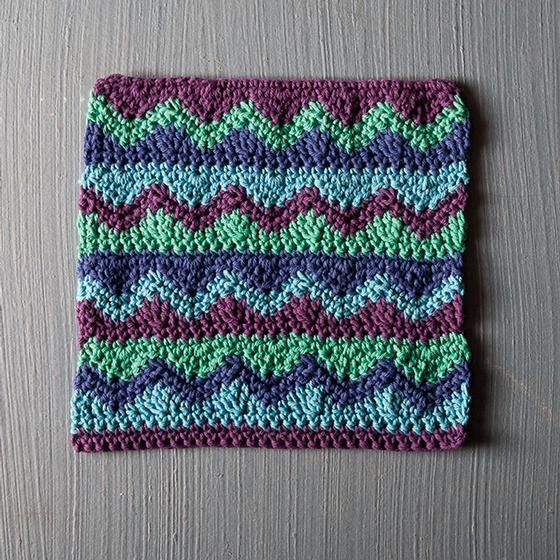 Mismatched Crochet Dishcloth - Knitting Patterns and Crochet ...