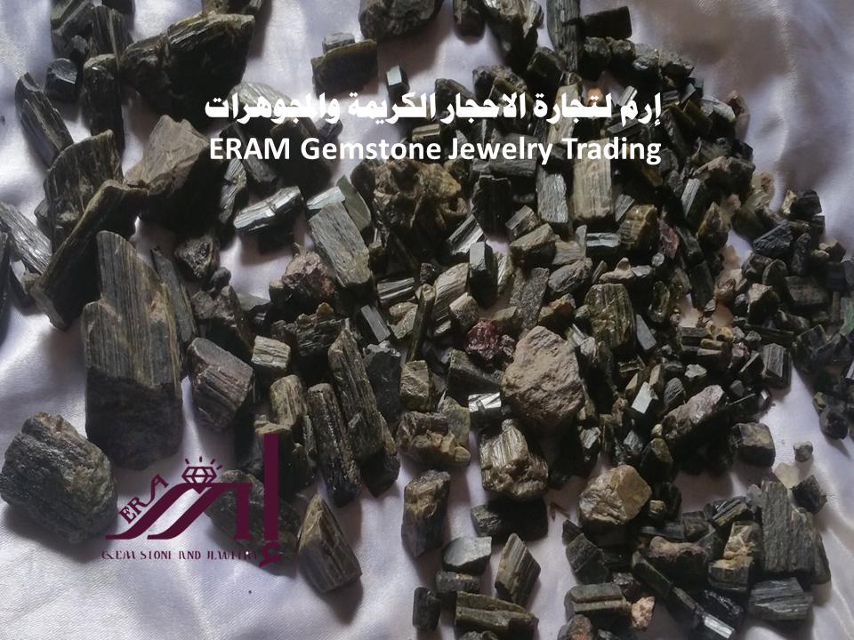 خام الحجر التورمالين اليمني الطبيعي Tourmaline الاصلي 100 Gemstone Jewelry Gemstones Trading