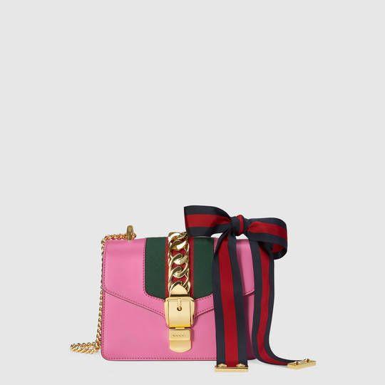 c6154c32b7 Sylvie leather mini chain bag - Gucci $1,950.00 | Style | Gucci ...