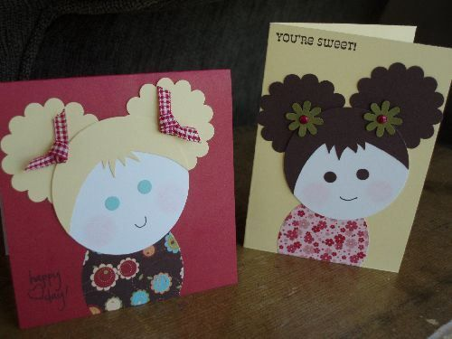 Punch Cuties Punch Art Cards Paper Punch Art Kids Birthday Cards
