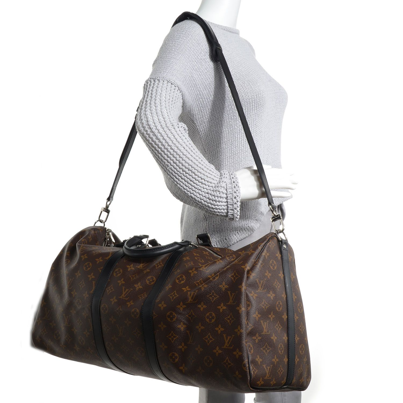 ee4bdc190d85 Fashionphile - LOUIS VUITTON Monogram Macassar Keepall Bandouliere 55