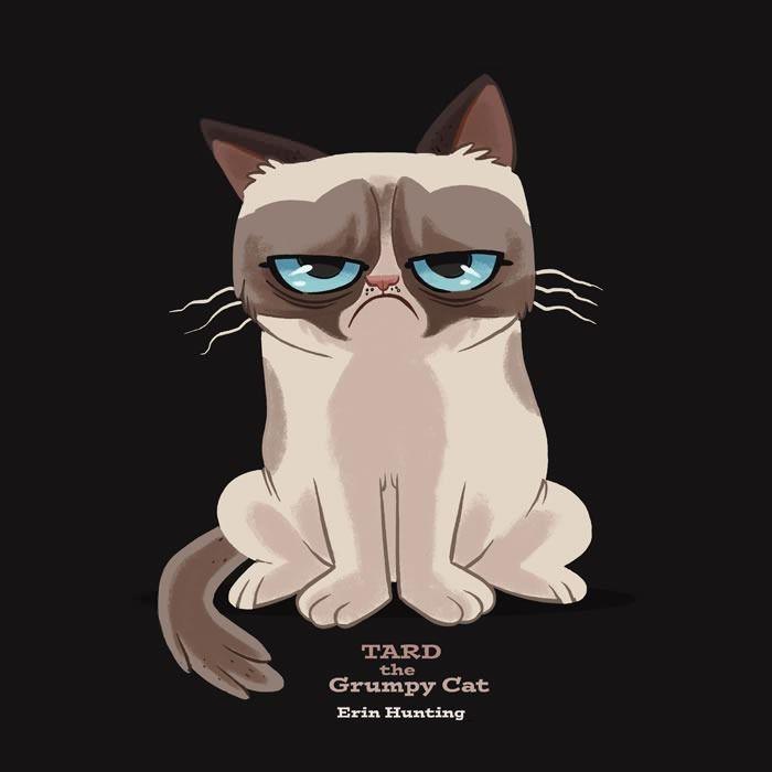 cartoon version of grumpy cat grumpy cat cartoon and cat rh pinterest com angry black cat cartoon angry cat cartoon drawing