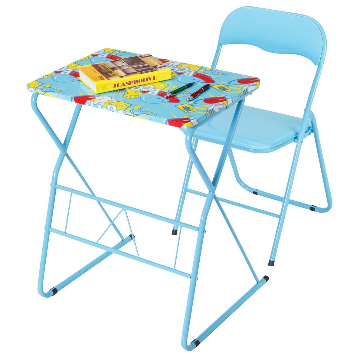 Home School Kids Study Writing Folding Table Chair Set 38 95