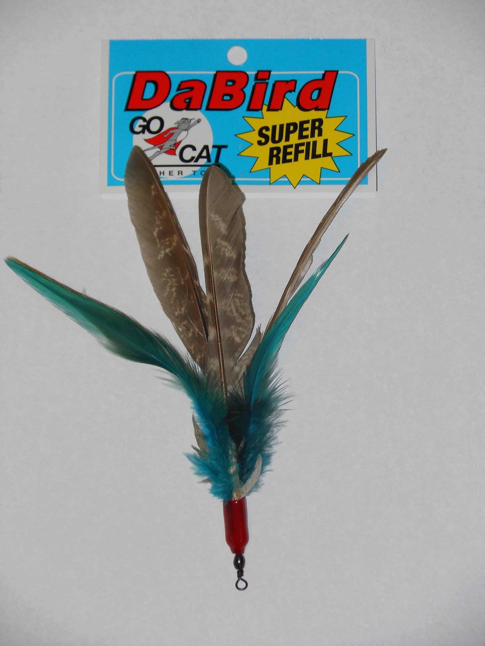 12 Pack of Go Cat Da Bird Super Feather Refills Plus