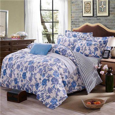 2017 Summer Bedding Set Duvet Cover Queen Size Bed Sheet Classic