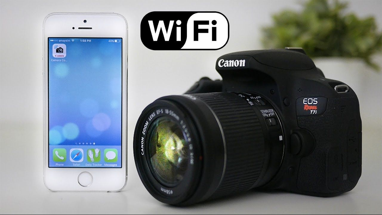 Canon T7i (800D) Tutorial - How to set up WiFi - YouTube