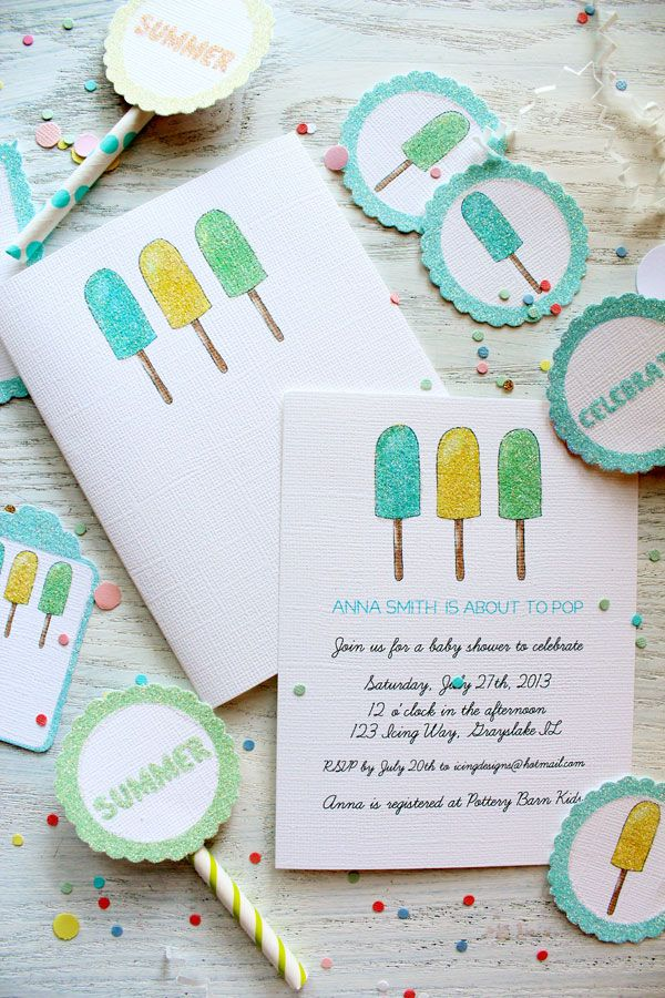 New to our shop: Sweet Popsicle Paper Party Goods