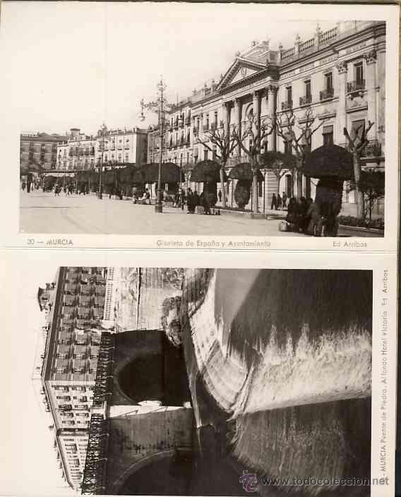 Librito desplegable con 10 postales de MURCIA (Ed. Arribas). Ver fotos adicionales (Postales - España - Murcia Antigua (hasta 1.939))