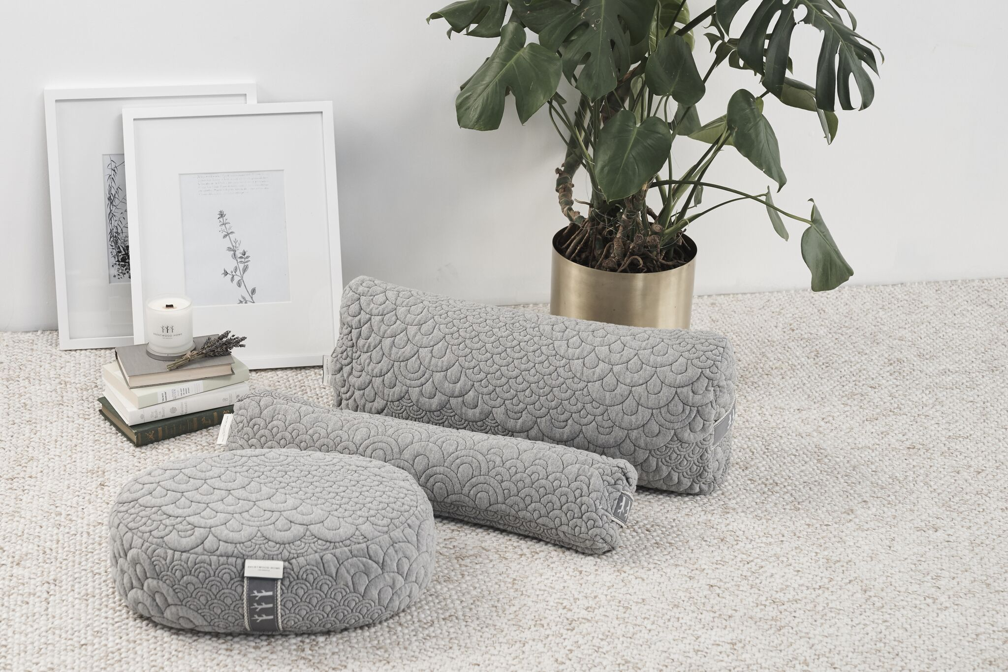 The crystal cove bundle combines our yoga bolster meditation