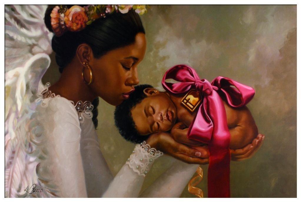 Heaven Sent Girl by Henry Battle 24x36 Black Art Print ...