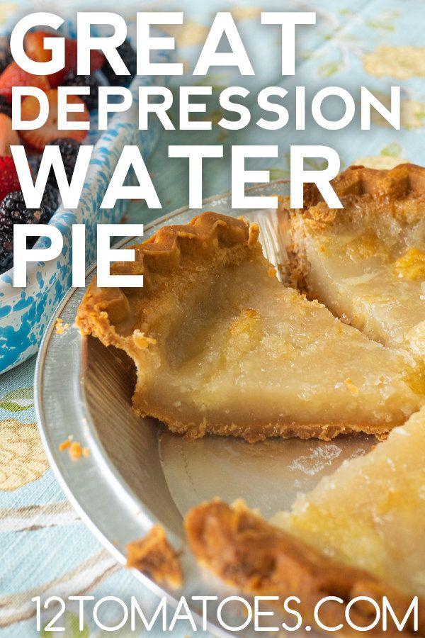 Depression Era Water Pie