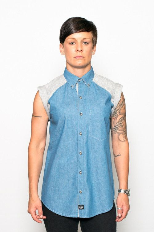 45fade72 From CharlieBoy Denim Bodies, Roll Up Sleeves, Shirt Sleeves, Button Down  Collar,