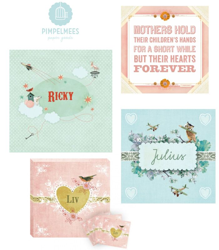 Two sisters, one studio and a wonderful collection paper products ... that is studio Pimpelmees from the Netherlands. Starting out with unqiue and stylish birth announcements followed by other cards, small canvasses and customized wedding invitations studio Pimpelmees now also...