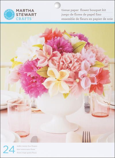 Diy paper flowers learn how to create beautiful paper bouquets vintage flower paper flower craft kit by martha stewart crafts mightylinksfo
