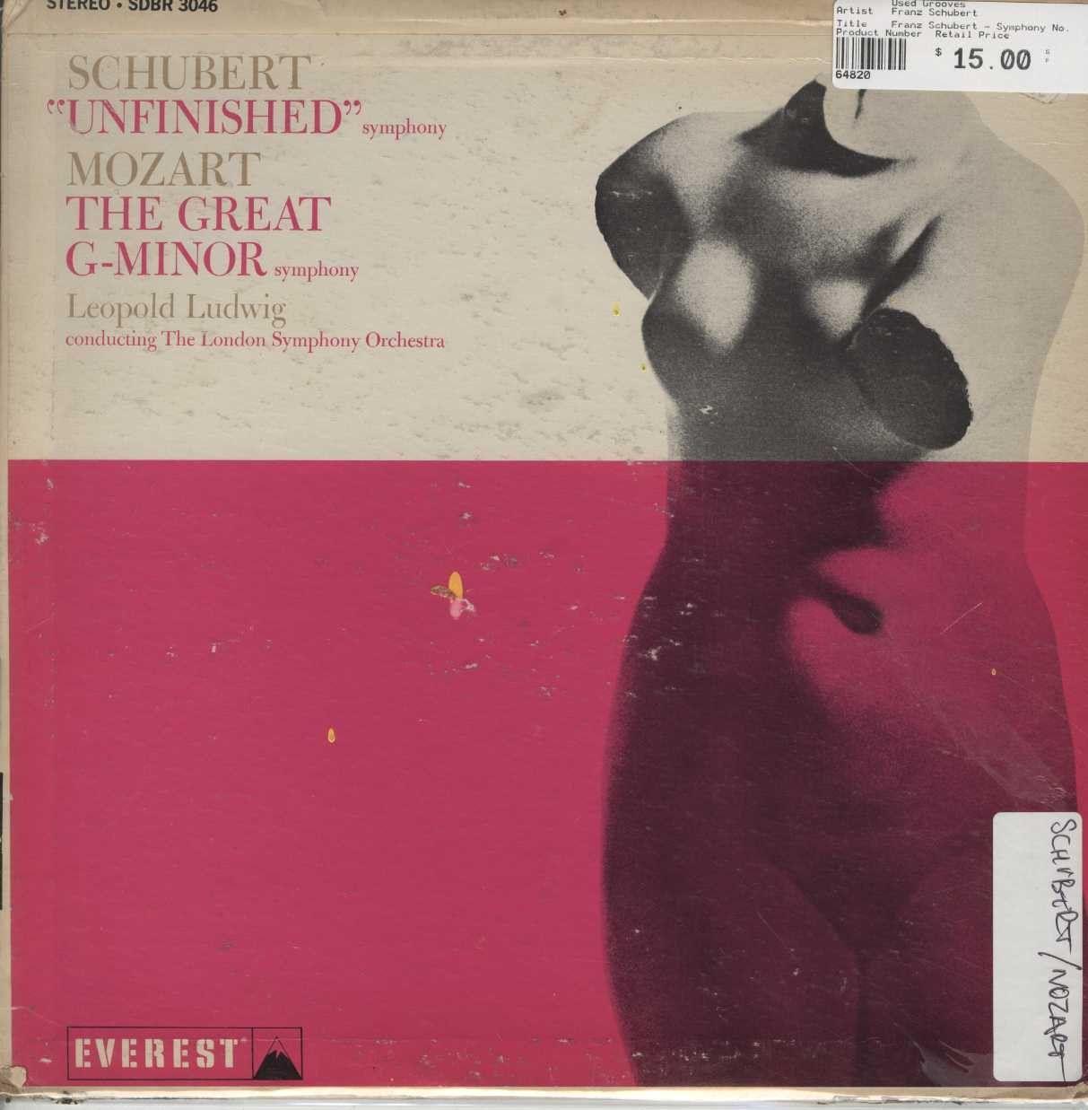 "Franz Schubert - Symphony No. 8 In B Minor (""Unfinished""), Symphony No. 40 In G Minor (""K. 550"")"