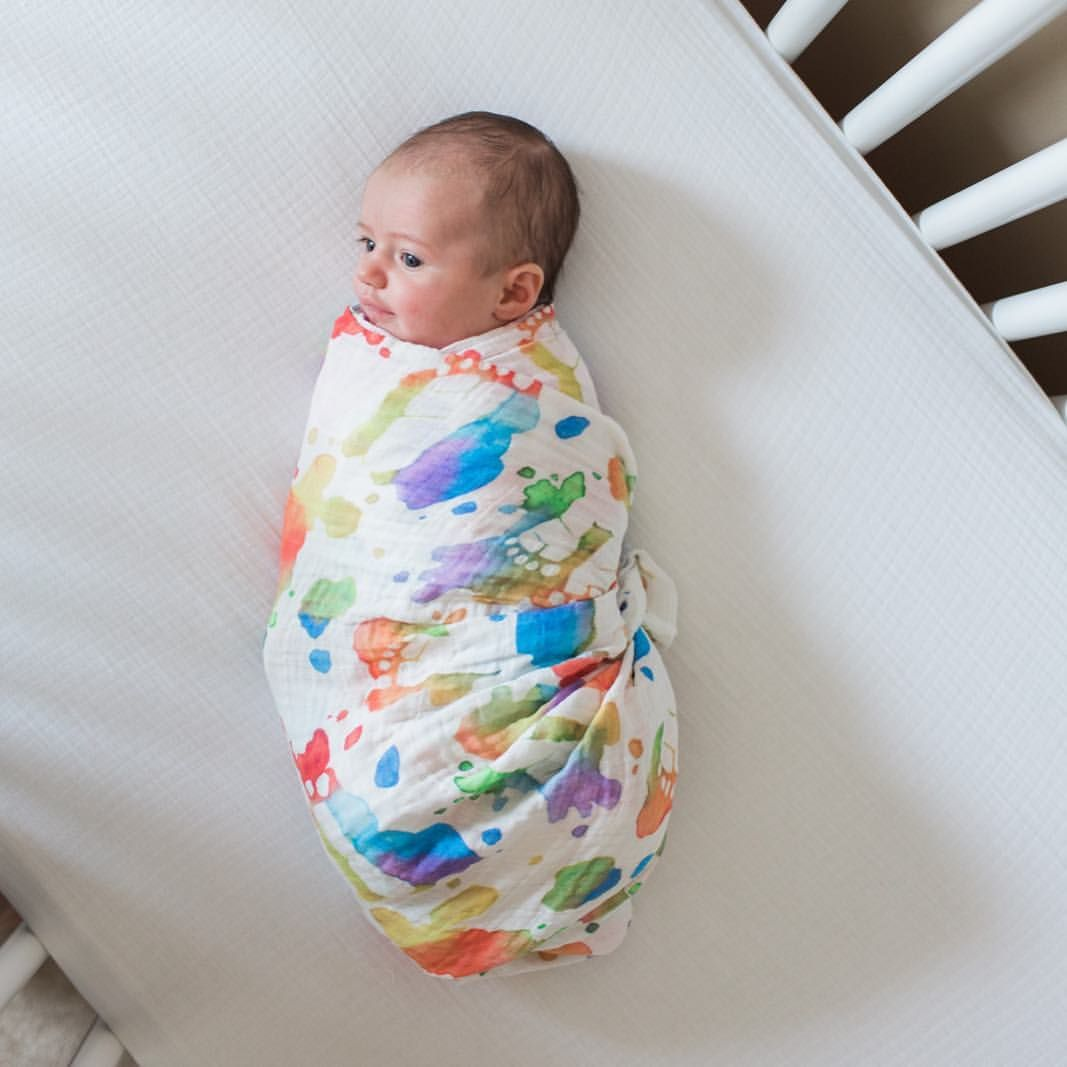 How To Swaddle A Baby With A Blanket Stunning Swaddled Baby In Swaddle Blanket Rainbow Baby #swaddle Blanket Decorating Inspiration