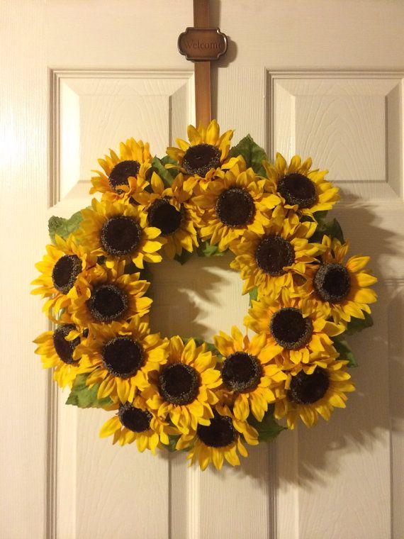 Photo of Frühlingskranz – Sonnenblumenkranz – Sommerkranz – Blumenkranz – Herbstdekor – Sonnenblumen – Gelber Kranz