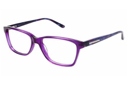 Elle Women\'s Eyeglasses EL13367 EL/13367 PU Purple Full Rim Optical ...