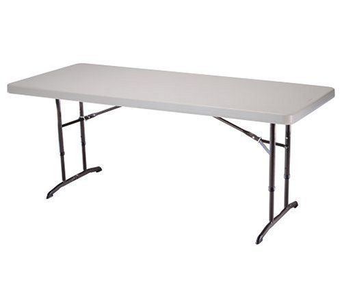 Lifetime 22920 6 Foot Adjustable Folding Table With 72 By 30 Inch Molded Top Almond By Lifetime Products Folding Table Round Folding Table Table Measurements