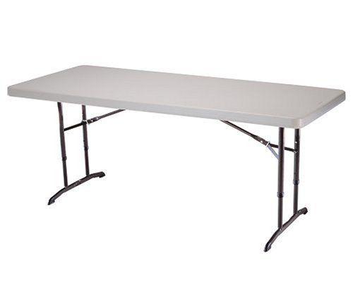 Lifetime 22920 Height Adjustable Folding Utility Table 6 Feet