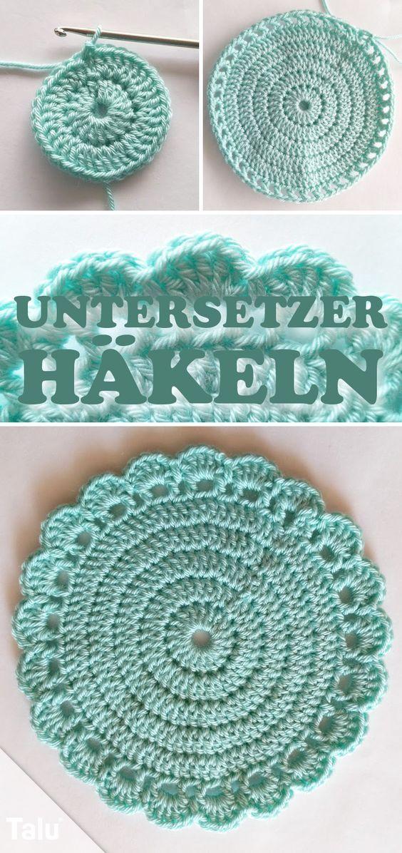 Photo of Untersetzer häkeln – Einfache Anleitung für runde Tassenuntersetzer – Talu.de