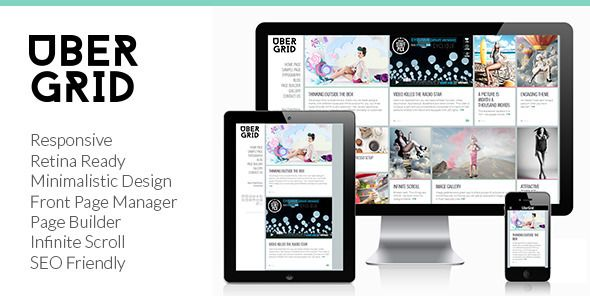 Ubergrid - Responsive Grid WordPress Theme - WordpressThemeDB ...