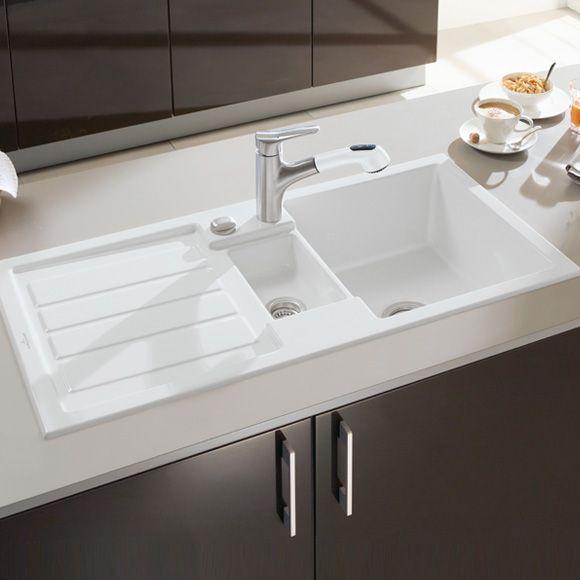 Villeroy \ Boch Flavia 60 Die Keramikspüle mit Excenterbetätigung - villeroy und boch waschbecken küche