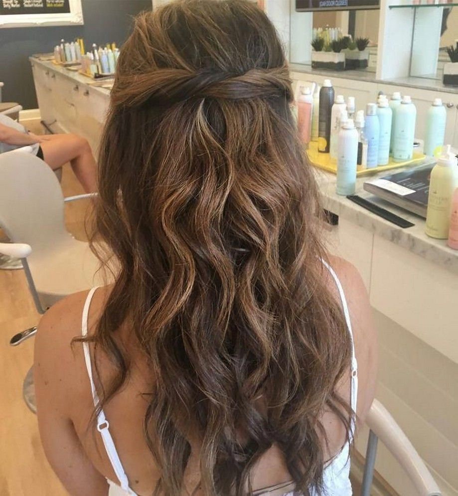 50+ charming half up half down wedding hairstyles 2020 26 » Beneconnoi.com