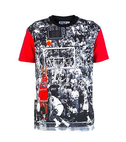 70f2ca644 POST GAME Michael Jordan tee Cotton for comfort Short sleeves All-over  crowd print
